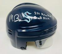 "Matt Beniers Signed Kraken Mini Helmet Inscribed ""1st Kraken Draft Pick"" (Fanatics Hologram) at PristineAuction.com"