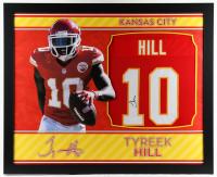 Tyreek Hill Signed 35x43 Custom Framed Jersey (JSA COA) (See Description) at PristineAuction.com