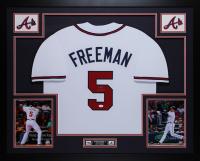 Freddie Freeman Signed 35x43 Custom Framed Jersey Display (JSA COA) at PristineAuction.com