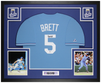 George Brett Signed Royals 35x43 Custom Framed Jersey Display (Beckett COA) at PristineAuction.com