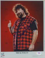 Mick Foley Signed WWE 8x10 Photo (PSA COA) at PristineAuction.com