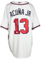 "Ronal Acuna Jr. Signed Braves Jersey Inscribed ""2018 NL ROY"" (JSA COA) at PristineAuction.com"