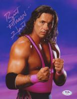 "Bret ""Hitman"" Hart Signed WWE 8x10 Photo (PSA COA) at PristineAuction.com"