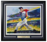 Joe DiMaggio Signed Leroy Neiman AP 24x27 Custom Framed Lithograph Display (Beckett LOA) at PristineAuction.com