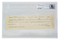Theodore Roosevelt Signed Personal Bank Check (BGS Encapsualted) at PristineAuction.com