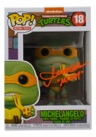 "Townsend Coleman Signed ""Teenage Mutant Ninja Turtles"" #18 Michelangelo Funko Pop! Vinyl Figure Inscribed ""Mikey"" (JSA COA) at PristineAuction.com"