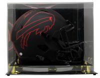 Josh Allen Signed Bills Full-Size Eclipse Alternate Speed Helmet With Display Case (Beckett COA) at PristineAuction.com