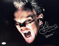 "Kiefer Sutherland Signed ""The Lost Boys"" 11x14 Photo Inscribed ""David"" (JSA COA) at PristineAuction.com"