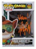 "Jess Harnell Signed ""Crash Bandicoot"" #421 Crash Bandicoot with Scuba Gear Funko Pop! Vinyl Figure ""Whoa!"" (JSA COA) at PristineAuction.com"