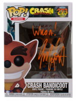 "Jess Harnell Signed ""Crash Bandicoot"" #273 Crash Bandicoot Funko Pop! Vinyl Figure Inscribed ""Whoa!"" (JSA COA) at PristineAuction.com"