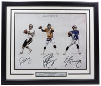 Peyton Manning, Eli Manning & Archie Manning Signed 22x27 Photo (Fanatics COA) at PristineAuction.com