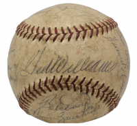 1957 Red Sox Baseball Team-Signed by (21) with Ted Williams, Jim Piersall, Mickey Vernon, Bobby Doerr, Curt Growdy, Franke Malzone (Beckett LOA) at PristineAuction.com