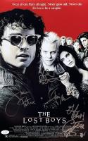 """The Lost Boys"" 11x14 Photo Signed by (4) with Keifer Sutherland, Corey Feldman, Jason Patric & Jamison Newlander Inscribed ""God Bless"" (JSA COA) at PristineAuction.com"