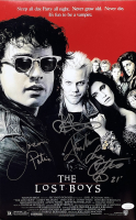 """The Lost Boys"" 11x14 Photo Signed by (4) with Keifer Sutherland, Corey Feldman, Jason Patric & Jamison Newlander Inscribed ""Love"" (JSA COA) at PristineAuction.com"