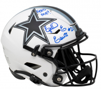 "Ezekiel Elliott Signed Cowboys Full-Size Authentic On-Field Lunar Eclipse Alternate SpeedFlex Helmet Inscribed ""Feed Me!"" (Beckett COA) at PristineAuction.com"