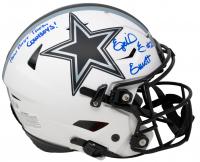 "Ezekiel Elliott Signed Cowboys Full-Size Authentic On-Field Lunar Eclipse Alternate SpeedFlex Helmet Inscribed ""How Bout Them Cowboys!"" (Beckett COA) at PristineAuction.com"