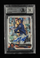 Jarred Kelenic Signed 2018 Bowman Chrome Draft Refractors #BDC6 (BGS Encapsulated) at PristineAuction.com