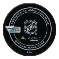 Martin Brodeur Signed Devils Jersey Retirement Hockey Puck (Fanatics Hologram) at PristineAuction.com