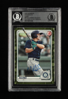 Jarred Kelenic Signed 2020 Bowman Prospects Camo #BP94 (BGS Encapsulated) at PristineAuction.com