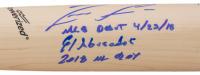 "Ronald Acuna Jr. Signed Louisville Slugger Baseball Bat Inscribed ""MLB Debut 4/23/18"", ""El Abusador"" & ""2018 NL ROY"" (Beckett COA) at PristineAuction.com"