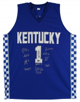 Jersey Signed by (12) with John Calipari, Daimion Collins, Tyty Washington, Davion Mintz, Jacob Toppin, Dontaie Allen (Beckett Hologram) at PristineAuction.com