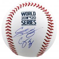 Cody Bellinger & Corey Seager Signed 2020 World Series Logo Baseball (MLB Hologram & Fanatics Hologram) at PristineAuction.com