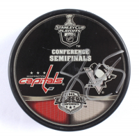 Sidney Crosby Signed Penguins Conference Semifinals Hockey Puck (PSA COA) at PristineAuction.com