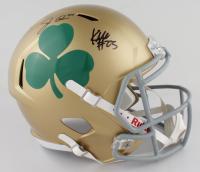 Jack Coan & Kyren Williams Signed Notre Dame Fighting Irish Full-Size Speed Helmet (JSA COA) at PristineAuction.com