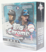 2021 Topps Chrome Baseball Mega Box with (10) Packs (See Description) at PristineAuction.com