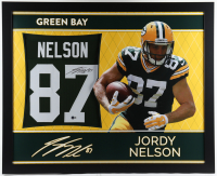 Jordy Nelson Signed 35x43 Custom Framed Jersey (Beckett COA) (See Description) at PristineAuction.com