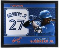 Vladimir Guerrero Jr. Signed 35.5x43.5 Custom Framed Jersey (JSA Hologram) (See Description) at PristineAuction.com