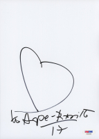 Romero Britto Signed 8x10 Photo with Hand Drawn Sketch (PSA Hologram) at PristineAuction.com
