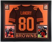 Jarvis Landry Signed 35x43 Custom Framed Jersey Display (Beckett COA) at PristineAuction.com