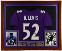 Ray Lewis Signed 35.5x43.5 Custom Framed Jersey Display (Beckett COA) at PristineAuction.com