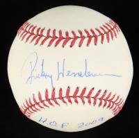 "Rickey Henderson Signed OML Baseball Inscribed ""HOF 2009"" (Steiner COA) at PristineAuction.com"