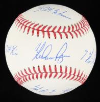 "Nolan Ryan Signed OML Baseball Inscribed ""324 Wins"", ""7 No-Hitters"", ""H.O.F. '99"", & ""5,714 K's"" (PSA COA) at PristineAuction.com"
