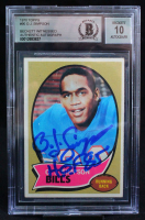 """O.J. Simpson Signed 1970 Topps #90 RC Inscribed """"HOF 85"""" (BGS Encapsulated) at PristineAuction.com"""