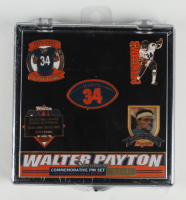 Walter Payton Bears LE Factory Sealed Commemorative Pin Set at PristineAuction.com