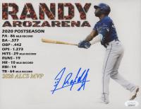 Randy Arozarena Signed Rays 8x10 Photo (JSA COA) at PristineAuction.com