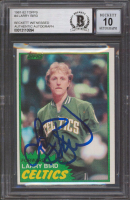 Larry Bird Signed 1981-82 Topps #4 (BGS Encapsulated) at PristineAuction.com