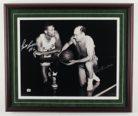 Red Auerbach & Bill Russell Signed Celtics  22x26 Custom Framed Photo Display (Hollywood Collectibles COA & JSA Hologram) (See Description) at PristineAuction.com