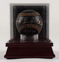 """Nolan Ryan Signed OML Baseball with Display Case Inscribed """"HOF 99"""", """"7 No-Hitters"""", """"5,714 K's"""" & """"324 Wins"""" (PSA COA) at PristineAuction.com"""