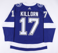 """Alex Killorn Signed Lightning Jersey with Inscribed """"B2B Champs"""" (COJO COA) (See Description) at PristineAuction.com"""