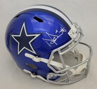 Dak Prescott Signed Cowboys Full-Size Flash Alternate Speed Helmet (Beckett Hologram) at PristineAuction.com