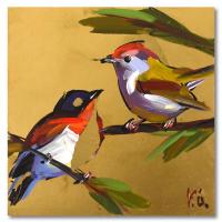 Yasna Godovanic Signed 6x6 Original Acrylic Painting on Board at PristineAuction.com