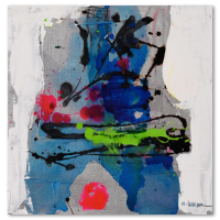 Moshe Leider Signed 12x12 Original Mixed Media Painting on Canvas at PristineAuction.com