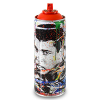 """Mr. Brainwash Signed """"Champ (Red)"""" Limited Edition Hand Painted Spray Can #125/150 with Thumbprint at PristineAuction.com"""