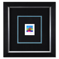 """Peter Max Signed """"Cosmic Sailboat"""" Limited Edition 17x16 Custom Framed Lithograph #459/500 at PristineAuction.com"""