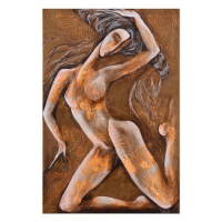 """Nadia Volna Signed """"Gold Moon"""" 24x36 Original Acrylic Painting on Canvas at PristineAuction.com"""