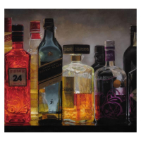 """Vicente Romero Signed """"Bottles Illuminating the Night"""" Limited Edition 26x28 Giclee on Canvas at PristineAuction.com"""